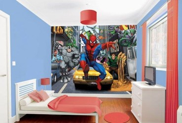 Best Memorable Childrens Bedroom Ideas With Superhero Posters 12
