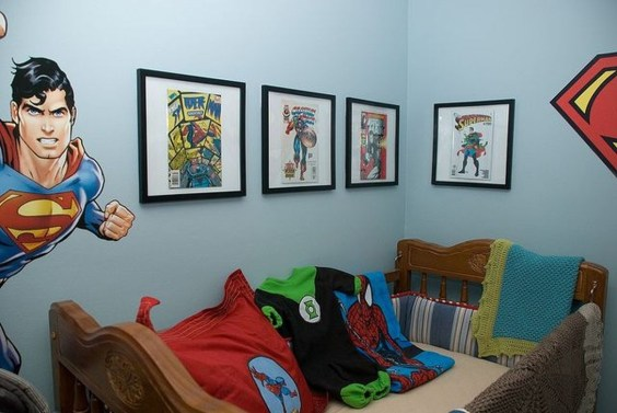 Best Memorable Childrens Bedroom Ideas With Superhero Posters 17