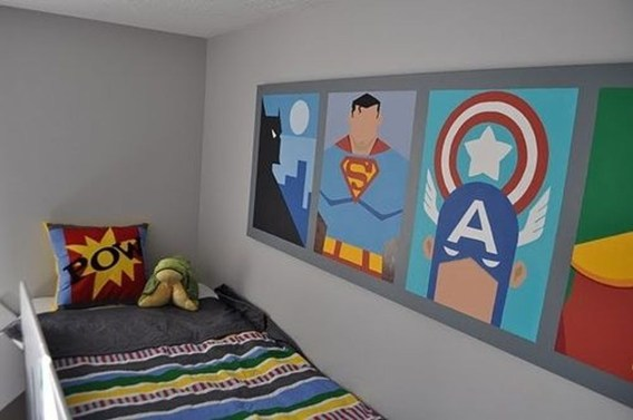 Best Memorable Childrens Bedroom Ideas With Superhero Posters 18