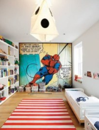 Best Memorable Childrens Bedroom Ideas With Superhero Posters 22