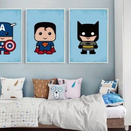 Best Memorable Childrens Bedroom Ideas With Superhero Posters 34