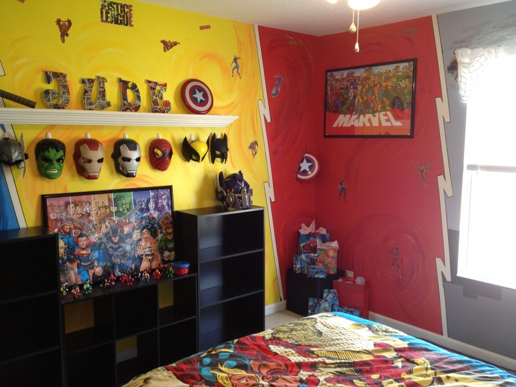 Best Memorable Childrens Bedroom Ideas With Superhero Posters 50