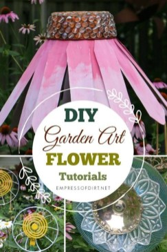 Cozy Diy Art Flowers Ideas For Garden On A Budget22