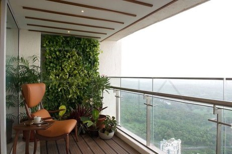Inspiring Wooden Floor Design Ideas On Balcony For Your Apartment 09