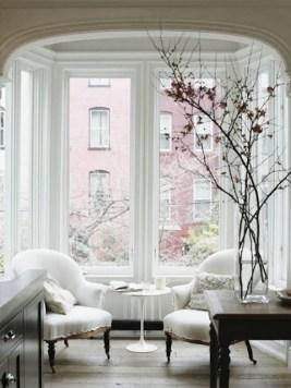 Lovely Window Design Ideas With Vase Flower Ornament07