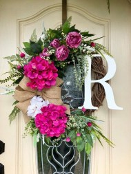 Pretty Hang Wreath Ideas In Door For Summer Time 21