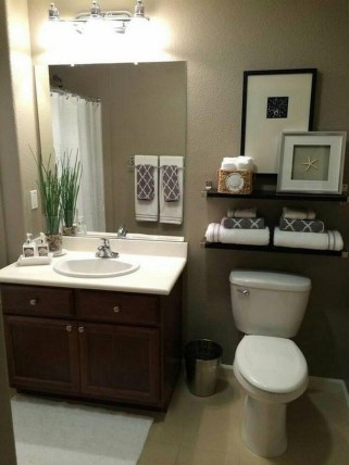 Cute Small Bathroom Decor Ideas On A Budget To Try16
