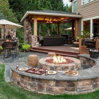 Inspiring Outdoor Fire Pit Design Ideas To Try08