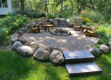 Inspiring Outdoor Fire Pit Design Ideas To Try47