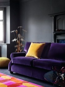 Modern Living Room Ideas With Purple Color Schemes13