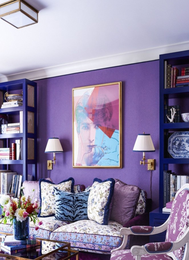 Modern Living Room Ideas With Purple Color Schemes15