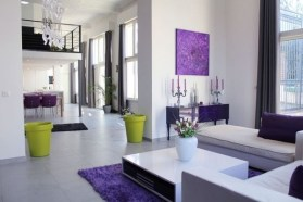 Modern Living Room Ideas With Purple Color Schemes27