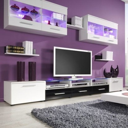 Modern Living Room Ideas With Purple Color Schemes36