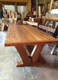 Charming Diy Wooden Dining Table Design Ideas For You19