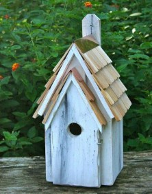 Elegant Bird House Ideas For Your Backyard Space05