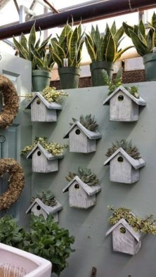 Elegant Bird House Ideas For Your Backyard Space09