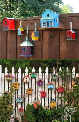Elegant Bird House Ideas For Your Backyard Space38