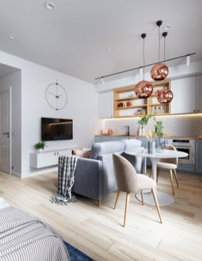 Splendid Studio Apartment Decorating Ideas That Looks Cool34