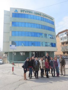 The team in front of Etugen Institute.