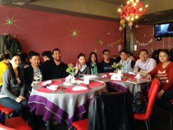 Lunch with some of the students.