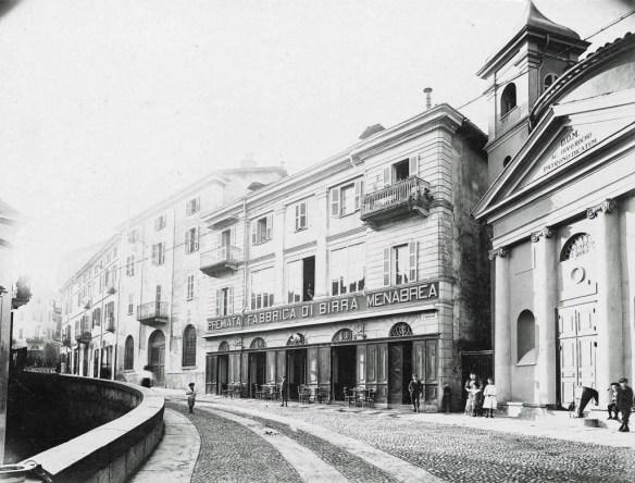 The Menabrea brewery frontage circa 1900