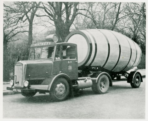 Dennis 'Horla' tank vehicle owned by Watney's in 1948