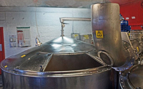 Mash run with Steele's masher, Caledonian brewery