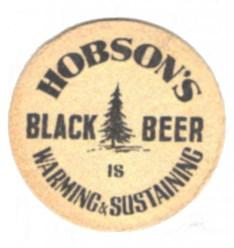 Hobson's Black Beer beermat 1