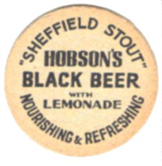 Hobson's Sheffield Stout beermat