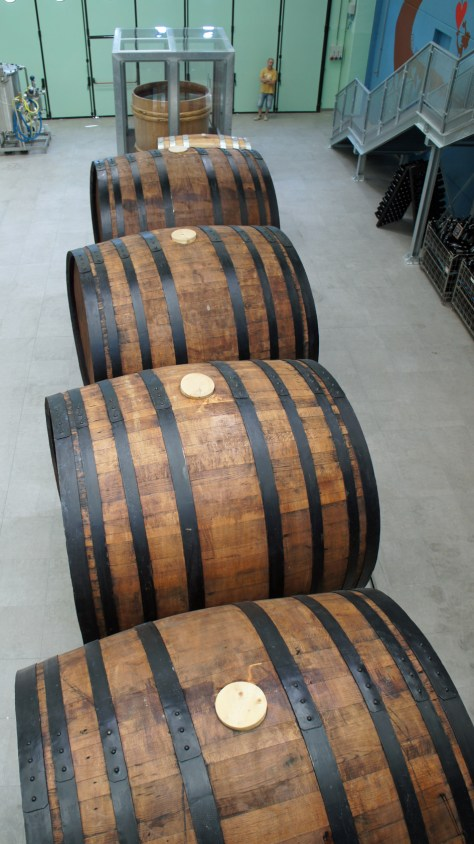 Huge wooden barriques, Baladin