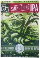 One of several Bayou Teche labels harking to old 1950s horror movie posters