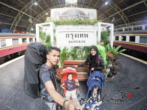 Pengembaraan Backpack bersama Anak Kecil menggunakan pengangkutan Awam Darat ke Bangkok, Thailand